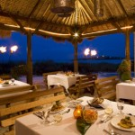 Outside dining at Sandals Emerald Bay