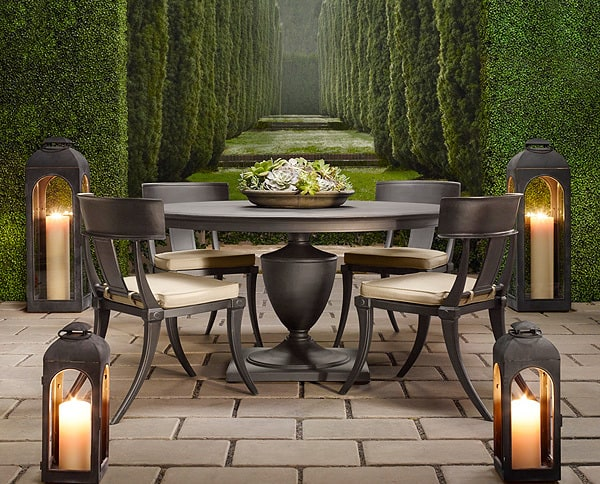 Catalog inspiration restoration hardware premier for Restoration hardware outdoor dining