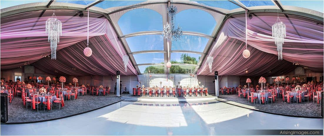 Tented Saginaw wedding