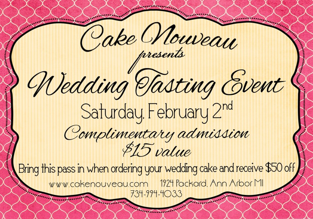wedding cake tasting event january 2013 premier michigan wedding consultants 26216