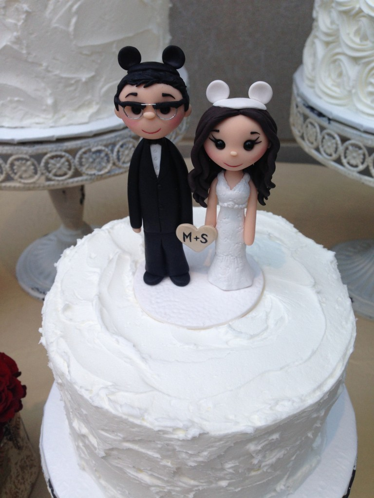 mickey ears wedding cake topper sam amp michael are married 02 08 2014 twofoot creative 17351